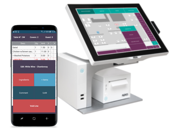 FT LS Central for restaurants-Eliminate errors and improve the bottom line-aures-samsung-mobile POS-table management-1