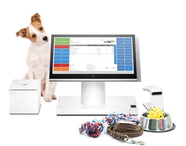 FT-industry-pet stores-LS Central-pets-dog-hp-pos-printer-one system for all your operations